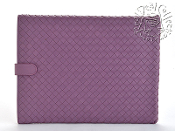 Bottega Veneta Lilac Woven Leather iPad Holder Sleeve