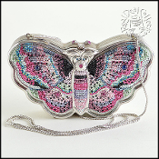 Judith Leiber Limited Edition Crystal Butterfly Minaudière
