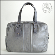 Balenciaga Grey Leather Men's Work and Travel Tote Bag