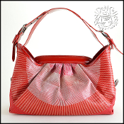 Fendi Red Embroidered Patent Leather Borsa Doctor Shoulder Bag
