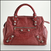 Balenciaga Sanguine Maroon 21mm Silver Giant Hardware Mid-Day