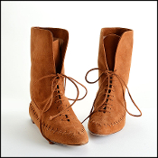 Size 38.5 Manolo Blahnik Brown Suede Lace-Up Moccasin Boots