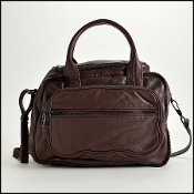 Alexander Wang Dark Brown Lambskin Eugene Handbag with Strap