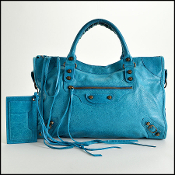 Balenciaga 2005 Turquoise Chevre Leather Classic City Handbag