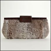 Nancy Gonzalez Mongolian Lamb and Crocodile Clutch