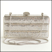Judith Leiber Crystal Minaudiere Clutch
