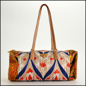Prada Floral Silk Foulard Bauletto Shoulder Bag