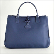 Longchamp Navy Nylon Raseau Tote Bag