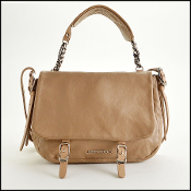 Jimmy Choo Taupe Leather Becka Biker Crossbody Bag