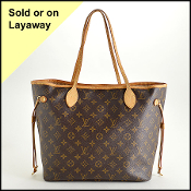 Louis Vuitton LV Monogram Canvas Neverfull MM Tote