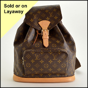 Louis Vuitton LV Monogram Canvas Montsouris GM Backpack
