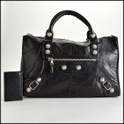 Balenciaga Black 21mm Silver Giant Hardware Work Tote