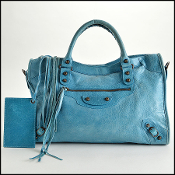 Balenciaga Cyclade (Blue) Lambskin Classic City Bag