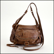 Jerome Dreyfuss Brown Distressed Leather Twee Mini Crossbody