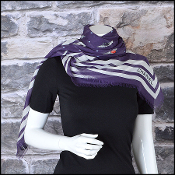 Chanel Plum and White Polkadots & Wing Pins Shawl