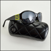 Chanel Black and Neon Green Double C's 5070 Sunglasses