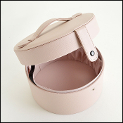 Valentino Soft Pink Round Parfums Makeup Case