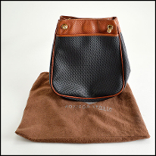 Bottega Veneta Black & Brown Marco Polo Vintage Tote