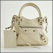 Balenciaga Cream (Blanc) Goatskin Leather Mini Classique Bag