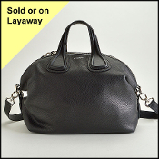 Givenchy Black Leather Medium Nightingale Satchel with Strap