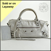 Balenciaga Gris Ciment Grey Twiggy Handbag