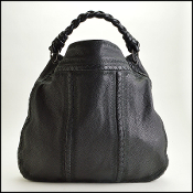 Bottega Veneta Black Stitch Detail Extra Large Hobo