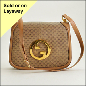 Gucci Vintage Beige Canvas Blondie Shoulder Bag