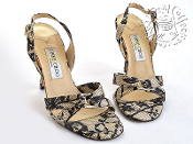 Size 37.5 (7 US) Jimmy Choo Black Lace High Heel Sandals