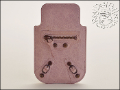 Balenciaga Bois de Rose Pale Pink Leather Phone Holder Case
