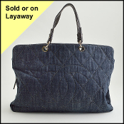 Chanel Denim Quilted Grand Shopping Tote