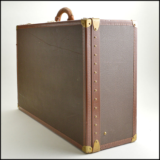 Louis Vuitton Brown Pebbled Coated Canvas Alzer Hardcase Trunk