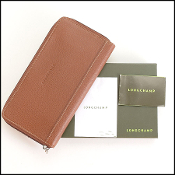 Longchamp Brown Zip Around Wallet
