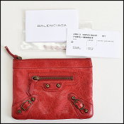 Balenciaga Rouge Vif Red Chevre Leather Coin Purse