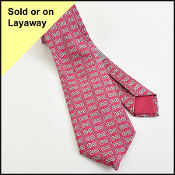 Hermes Burgundy/Grey Silk Men's Neck Tie