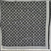 Louis Vuitton Black Denim LV Monogram Shawl