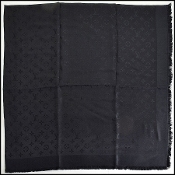 Louis Vuitton LV Monogram All Black Shawl