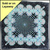Tiffany & Co Black/Turquoise Jewels Pattern Silk Scarf