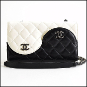 Chanel Black & Ivory Quilted Lambskin Yin Yang Bag