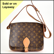 Louis Vuitton LV Monogram Cartouchiere GM