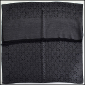Gucci Grey & Black GG Monogram Wool Stole