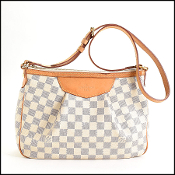 Louis Vuitton Damier Azur Siracusa PM Crossbody Bag