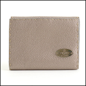 Fendi Selleria Metallic Leather Compact Wallet