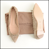Size 39 Gianvito Rossi Light Tan Suede Flats