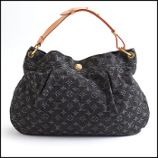 Louis Vuitton Black Denim Monogram Daily PM Hobo Bag