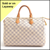 Louis Vuitton 2014 Damier Azur Speedy 35 Bag