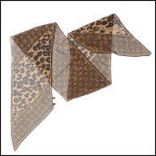 Louis Vuitton Monogram Leopard Silk Scarf