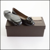 Bottega Veneta Black Leather Ballet Slipper Flats (Size 38.5)