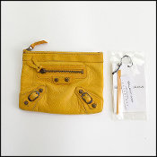 Balenciaga Jaune Marigold Yellow Chevre Leather Coin Purse