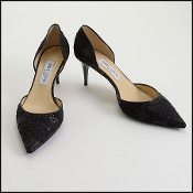 Size 39.5 Jimmy Choo Black Lace Heels