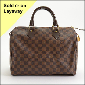Louis Vuitton Damier Ebene Speedy 30 Bag